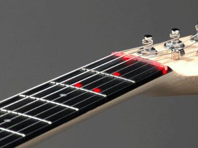 The Fretlight Advanced Polymer Fretboard
