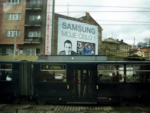 체코 어딘가에서 마주친 삼성 광고판