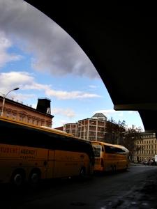 프라하행 Student Agency 버스